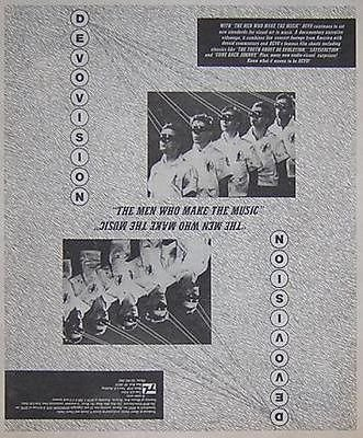Devo Men Who Make The Music Original Vintage 1980 LP Album Promo Poster Newspaper Ad