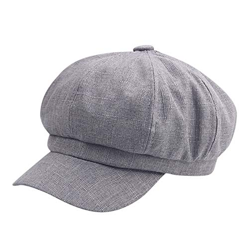 Challyhope Classic Fashion Unisex Outdoor Camo Tactical Plain Cadet Caps Army Military Hats Various Style and Colors Adjustable (Gray)