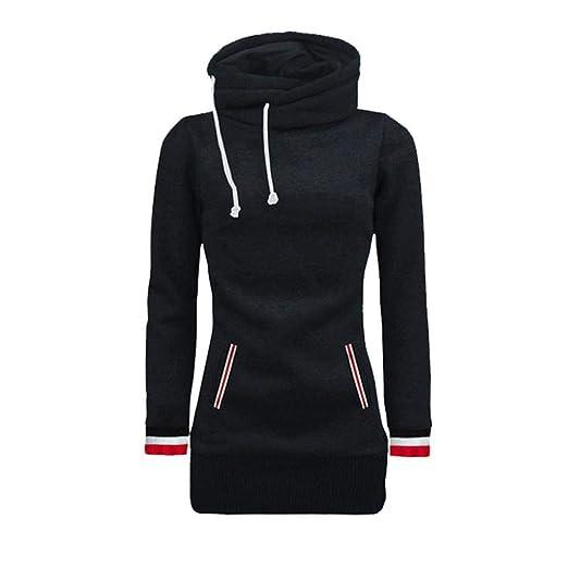 Big Sale! Women Hoodie Sweatshirt Daoroka Ladies Long Sleeve Turtleneck Solid Drawstring Pockets Pullover Hooded