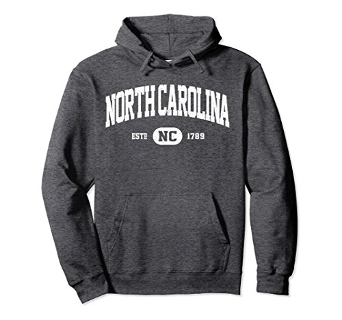 Unisex North Carolina Sweatshirt Retro Vintage N Carolina Hoodie NC Large Dark Heather