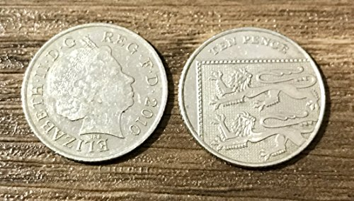 CLOSE UP MAGIC 10 PENCE SPLIT COIN 10p SPLIT COIN MAGIC TRICK COIN THROUGH BAG