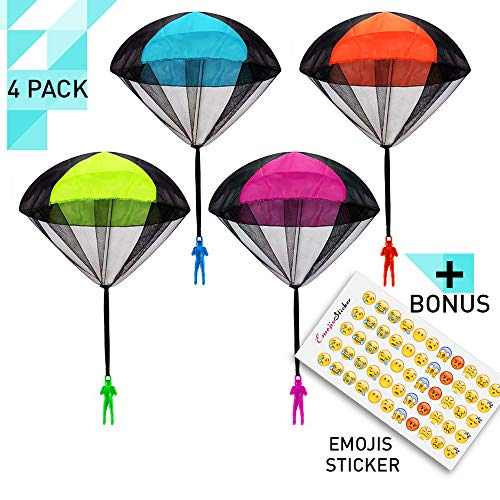 Flying Parachute Skydiving Soldier Toys Tangle Free Toss Outdoor Army Men Game for Boys Kids Throwing Toys Outside Toys for Boys Great Best Gift Jumper by Vitlix