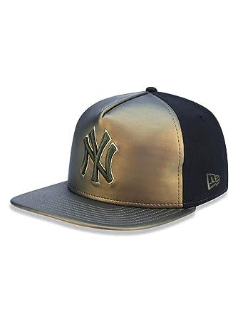 95082e755f014 BONE 5950 NEW YORK YANKEES MLB ABA RETA VERDE PRETO NEW ERA  Amazon ...