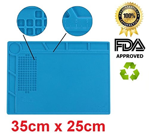 DREMINOVA Heat Insulation Soldering Mat Fix Smartphone Pad Silicone Repair Station Phone Desk Stations Repair Resistant Solder Iron Hot Air, Gun BGA, Gift for - Places That Eyeglasses Fix