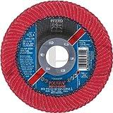 10 -PK Pferd 67381 Polifan-Curve Ceramic Flap Disc 4-1/2 in X 7/8 in 60 Large Radius