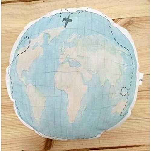 Cojín para decoración habitación bebé mapamundi: Amazon.es ...