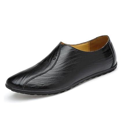 Zapatos casuales de los hombres Zapatos planos de mocasines planos Zapatos de vestir de moda Zapatos