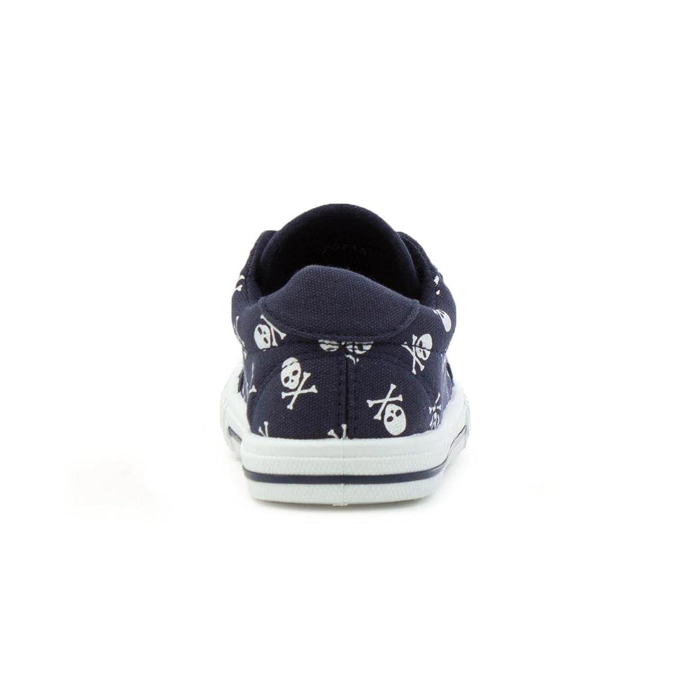 Walkright Kids Navy Skulls Easy Fasten Canvas Shoe: Amazon.co.uk: Shoes &  Bags