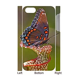 Cool Painting Butterfly Custom 3D Cover Case for Iphone 4,4S,diy phone case case524190