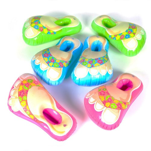 Flip Flop Decorations (Inflatable Flip Flop Sandal Feet Assorted Colors)