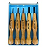 Five Piece Power Grip Carving Set Transparent Case
