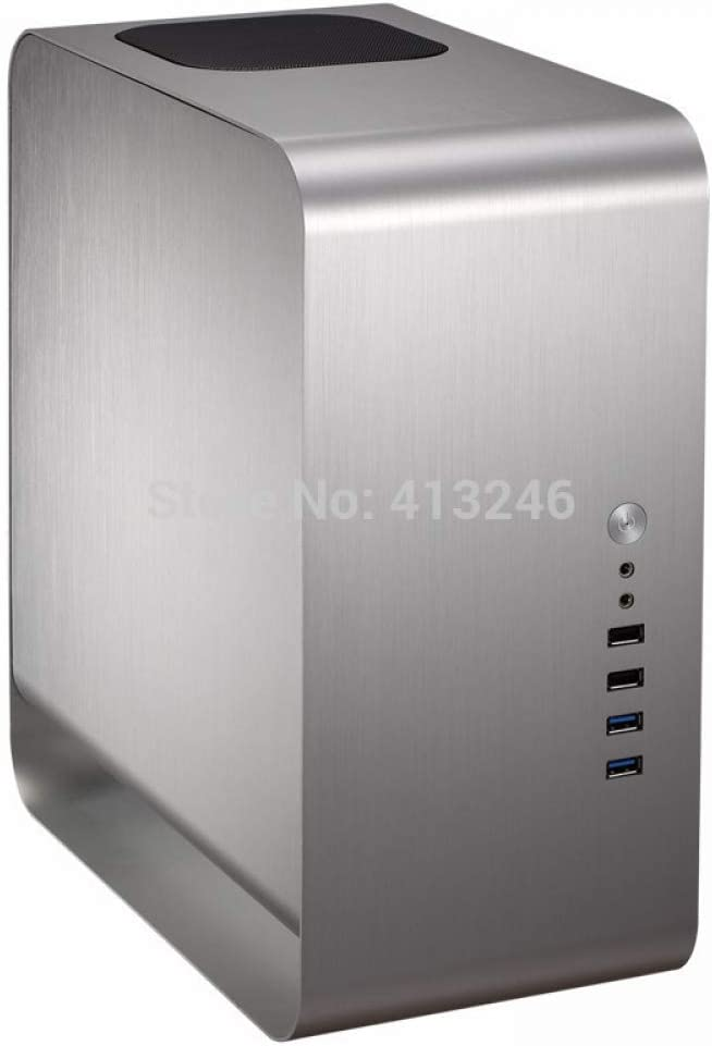 jinshuyu systemcabinet2019 Desktop Aluminium Case Mini ITX htpc Aluminum Computer case usb3.0 Mute Support Video Card