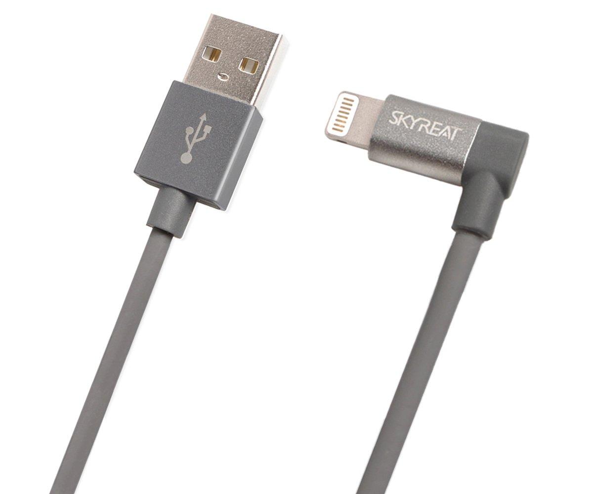 SKYREAT 1.14ft / 35cm Lightning USB Cable Cord [Apple MFi Certified] Perfect Size Right Angle for DJI Mavic 2 Pro/Zoom / Mavic Air/Pro / Platinum,Parrot Anafi,Autel EVO,Phantom Series