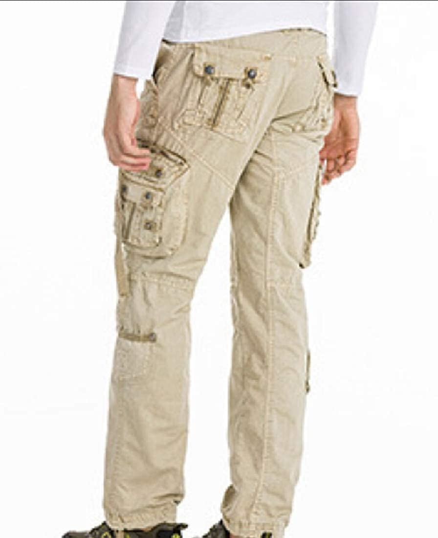 desolateness Mens Cargo Tactical Outdoor Cotton Hiking Army Military Multi-Pocket Pants