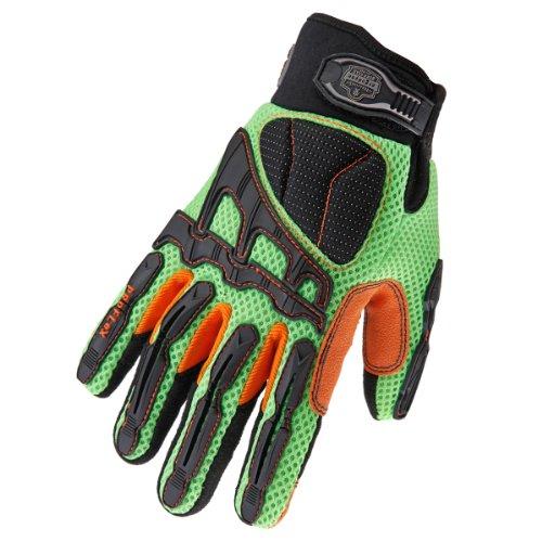 (Ergodyne ProFlex 924LD Lightweight Impact-Reducing Work Gloves, X-Small, Lime)