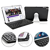 iPad Mini 4 Keyboard Case, KVAGO 360 Degree Rotating Hard Shell Case Sleeve with Bluetooth Keyboard Protective Cover for Apple iPad Mini 4th Gen -Black