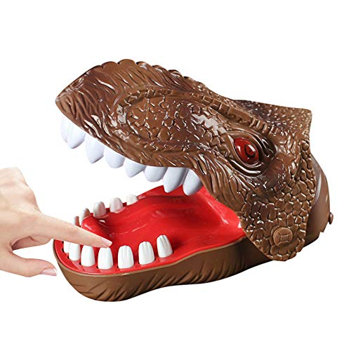 XEDUO Dinosaur Dentist Game Classic Biting Hand Finger Toys Funny Party Game for Family (Brown) for $<!--$0.99-->