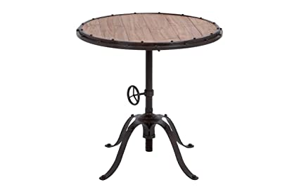 Amazon Com Deco 79 Metal Wood Round Table Accent Collection 30 By