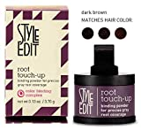 Style Edit ROOT TOUCH-UP, Binding Powder for Precise GRAY ROOT Coverage (STYLIST KIT) Color Binding Complex (DARK BROWN)