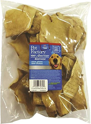 - Pet Factory 39746 Usa Beef Hide Chicken Basted Chips, 12 Oz