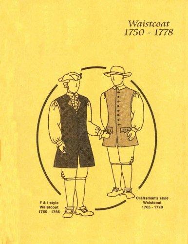 1750-1778 Men's Waistcoat (2 Versions) Pattern