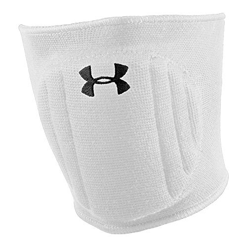 Under Armour Unisex Armour Volleyball Knee Pad, White/Black, Small/Medium