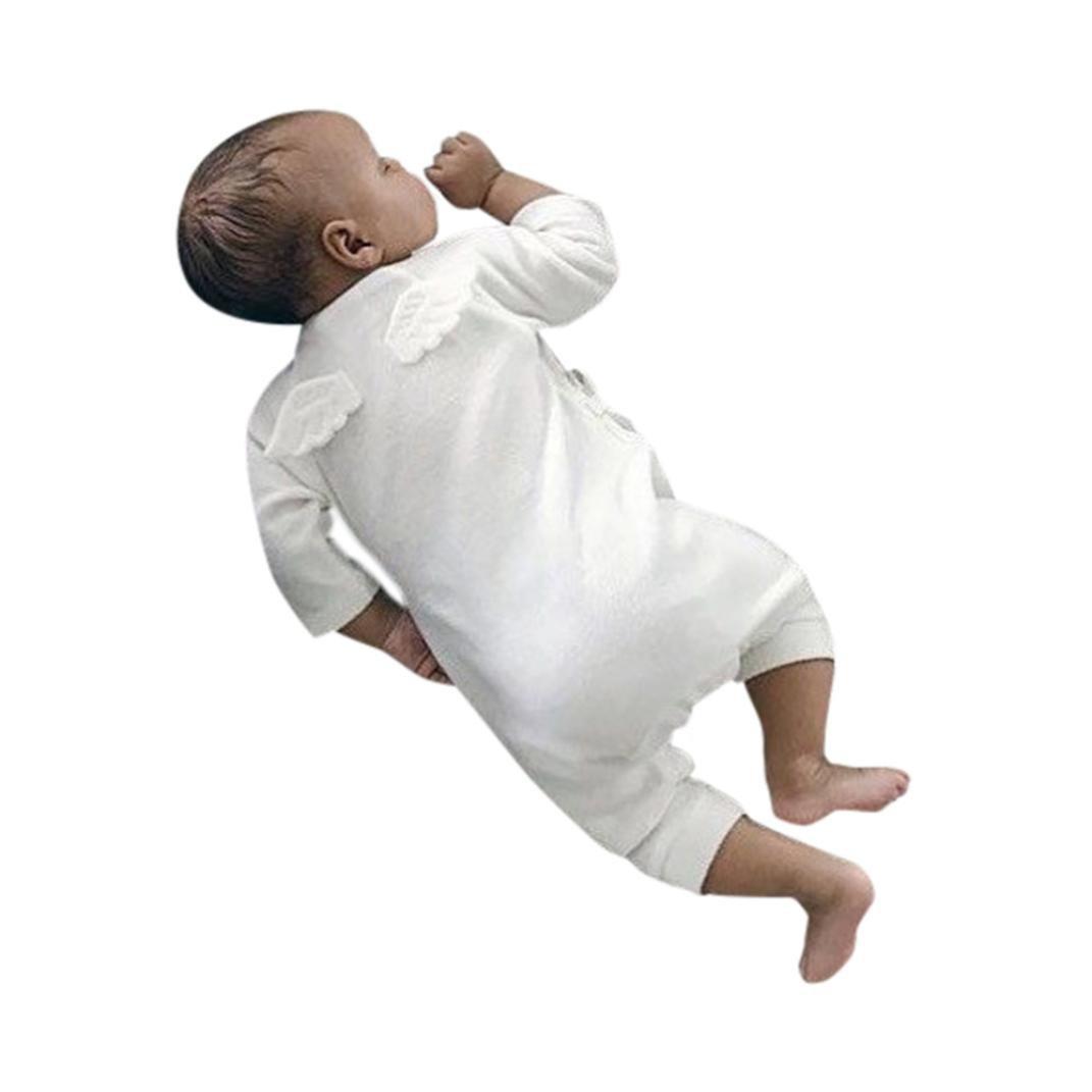sunnymi Weiß Grau★Mädchen Jungen Engelsflügel Verbunden Strickjacke Bekleidungsset★ Langarm Newborn Baby/Geburtstag Familie Kleidung Weihnachten Party