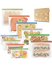 Reusable Sandwich Bags Resealable Food Storage Bag(Snack&Lunch Sized) Leakproof Kids Snacks Bags Extra Thick
