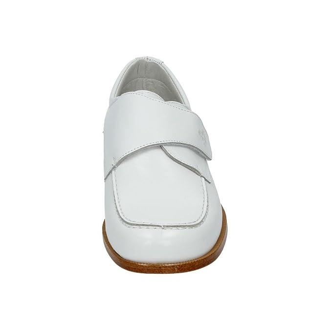 YOWAS 6899 Zapato COMUNIÓN Piel NIÑO Zapato COMUNIÓN Blanco ...