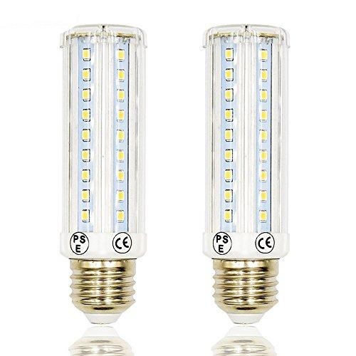 3 Way LED Corn Light Medium E26 Base Bulb Lustaled 10/5/2.5W Dimmable T10 Tubular LED Bulb Lamp 75/35/20W Incandescent Equivalent for Reading Ceiling Pendant Table Light (Daylight 6000K, 2-Pack)