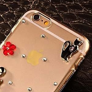 DK_DIY Attractive Dancer with Rhinestones Pattern Plastic Hard Case for iPhone 6