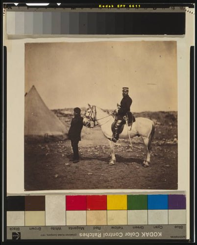 HistoricalFindings Photo: Mr. Thompson,Commissariat,servant,conical tent,Crimean War,1855,Roger Fenton