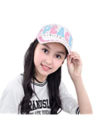 Baseball Flat Cap Child Girls Embroidery Lace Multicolor Spring Summer Sun Hat