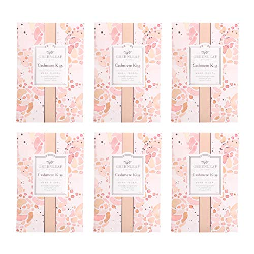 GREENLEAF Large Scented Sachet - Cashmere Kiss, 6-Pack ()