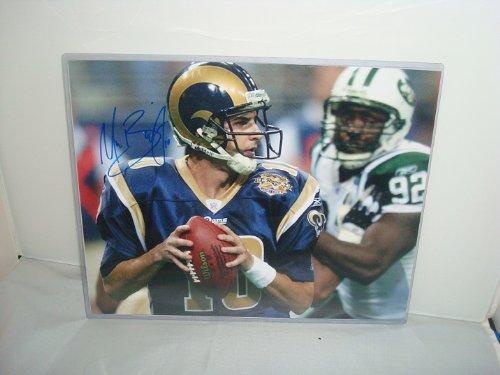Marc Bulger Signed Photograph, St. Louis Rams QB, -