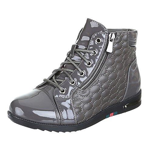 Ital-Design - Zapatillas de Material Sintético para mujer Gris - gris