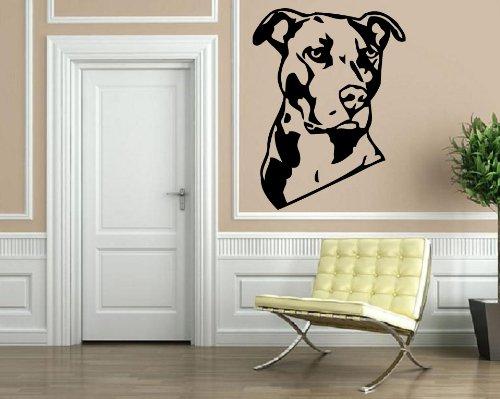 Pit Bull Terrier Dog Portrait Decor Wall Mural Vinyl Decal Art Sticker