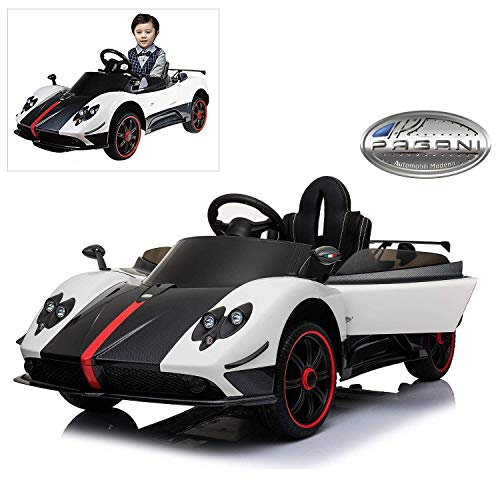 - Modern-Depo Official Licensed Pagani Zonda R Roadster 12V Electric Ride On Car with Remote Control for Kids to Drive, Openable Doors, Pull Handle and Roller, MP3, LED Lights