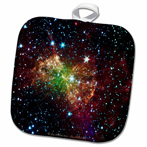 3dRose Lee Hiller Designs Space - In the Cosmos - Dumbbell Nebulapia - 8x8 Potholder (phl_61548_1)