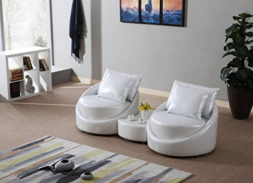mybestfurn genuine top grain real leather sofa filled with feather down modern sectional round sofa table set pearlescent white