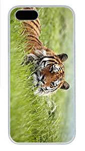 sell cases Tiger Grass PC White Case for iphone 5/5S