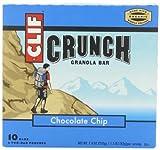 CLIF CRUNCH - Granola Bar - Chocolate Chip - (1.5 oz, 5 Two-Bar Pouches) by Clif Crunch Granola Bar