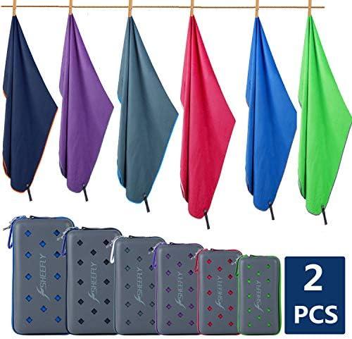SHEEFLY Microfiber Sport Towel Set