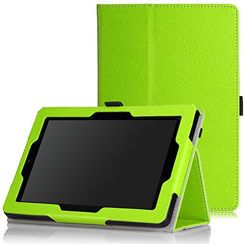 MoKo Case for Fire HD 7 2014 - Slim Folding Cover with Auto Wake / Sleep for Amazon Kindle Fire HD 7 Inch 4th Generation Tablet (Not Fits HD 7 2015), GREEN