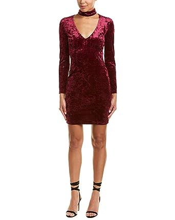 Amazon.com: Bardot Kira Vestido de terciopelo para mujer, S ...