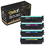 OpterInk CE709A Compatible Toner Cartridge 4 Pack (1 x Black, 1 x Cyan, 1 x Yellow, 1 x Magenta), for HP Color Laserjet Enterprise CP5525xh Printer Toner Cartridge