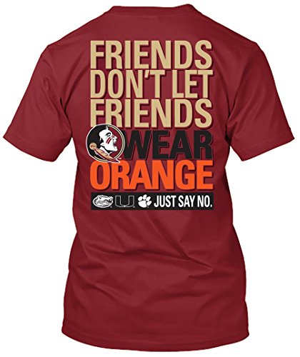 NCAA Friends Don't Let Friends Wear T Shirts - Up to 2X and 3X (Florida State Seminoles, Large) (Fsu Seminoles T-shirts)