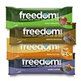 FREEDOM BAR Variety Pack- 8 Bars, 2 of Each flavor (1.7 OZ) 47 G Dairy Free, Gluten Free, Soy Free, Vegan, Non-GMO, Kosher