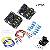 YaeTek Heat Bed Power Module Add-on Hot Bed Power Expansion Board MOS Tube High Current Load Module for 3D Printer, 2 Pack
