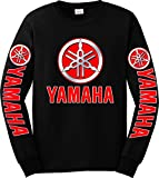 Yamaha Red Logo Long Sleeve T-Shirt, 4XL Black